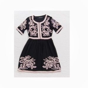 Chicwish Floral Embroidered Fit Flare Mini Dress